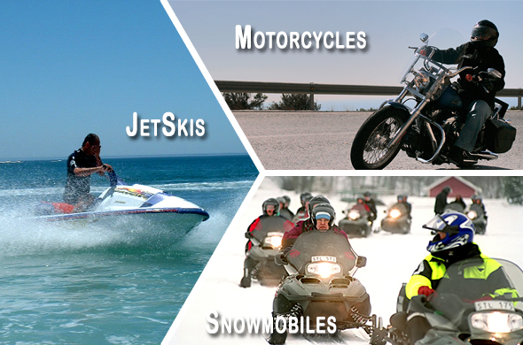 We also insure snowmobiles, jetskis, and motorcycles!